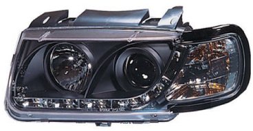 VW Polo 4 94-99 Twin Halo Ultra Chrome Headlights